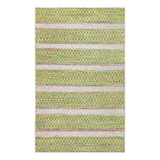 anji mountain saranya hand loomed green and pink 8 ft x 10 ft