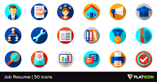 Resume Icons Extraordinary Job Resume 60 Free Icons SVG EPS PSD PNG Files