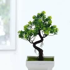 <b>Fake Artificial Plant Plastic</b> Bonsai Flower Wedding Office Home ...