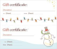 christmas gift card templates printable gift certificates templates for christmas download them