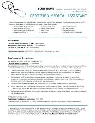 Certified Medical Assistant Resume Magnificent Medical Assistant Resume Examples Sample Medical Assistant Resume