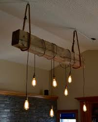 1930s structural beam Edison bulb light fixture project