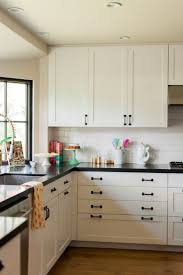 White Kitchen Cabinets With Black Hardware Morespoons Where To Place