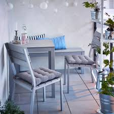 ikea small furniture. Outdoor \u0026 Garden Furniture Ideas | IKEA A Small Balcony With Grey Table, Bench And Chairs Seat Cushions. Chair, Ikea F