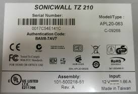 Home Network Security Appliance Sonicwall Tz 210 Tz210 Network Security Appliance Firewall Apl20