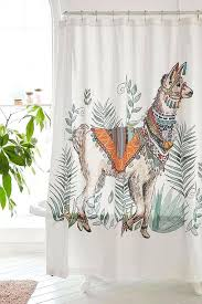 llama shower curtain magical thinking fancy urban outfitters