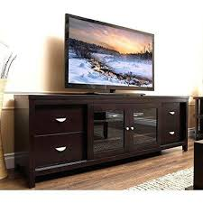 tv stands with glass doors shocking contemporary espresso wenge wood 72 inch entertainment console tv decorating