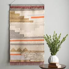 hand woven wall hanging on wall art tapestry hangings with tapestries you ll love wayfair