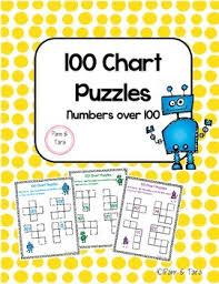 100 Chart Puzzles Numbers 100 200