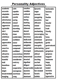 personality adjectives word list need to check the words quickly here are all the words on the two page personality adjectives list