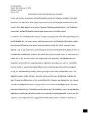 conclusion the federalists and antifederalists have shared   federalists and anti · 5 pages jennifer burden his 108 reaction paper 2