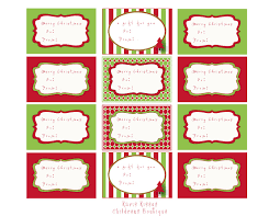 Printable Christmas Card Templates Impressive Christmas Card Labels Decorating Ideas