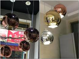 full size of rose gold globe pendant light modern led chrome copper glass round ball lights