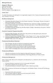 Plant Foreman Resume Career Cover Letter Millwright Maker Software