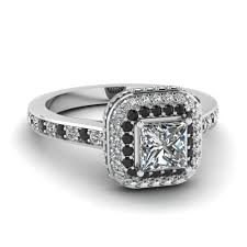 Launching Black Diamond Halo Engagement Rings Fascinating Diamonds Wedding Rings With Black And White Diamonds
