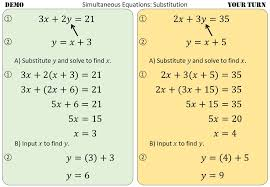 solving simultaneous equations using
