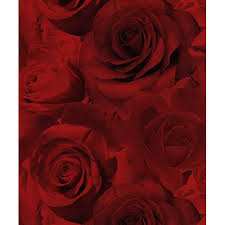 Red Flower Wallpaper Red Wallpaper Amazon Co Uk