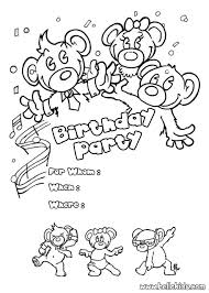 Small Picture birthday party coloring pages Bing Images Birthday Pinterest