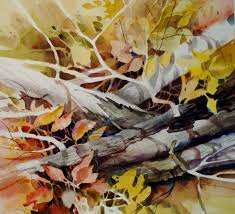 limbs and leaves original fine art for kathy los rathburn negative watercolor