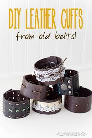 diy leather cuffs from old belts via make it and love
