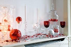 red and silver table decorations. unique red and silver table decorations with christmas mantel in white f