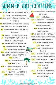 summer art challenge list