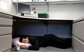 office naps. A Man Sleeping Underneath His Desk In Cubicle At Work Office Naps N
