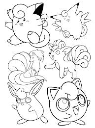 Cleffa Pokemon Kleurplaat