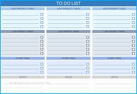 To Do List With Priority Template Top Grade Of To Do List Templates