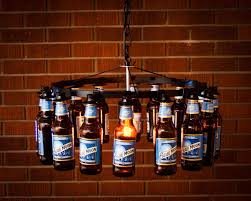 image of style beer bottle chandelier
