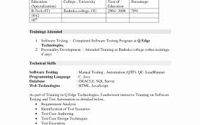 software testing resume samples software tester resume examples unique manual testing fresher resume