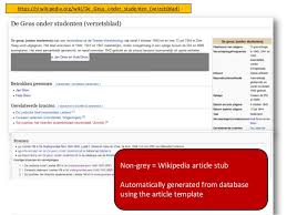 wikipedia article template using lod to crowdsource dutch ww2 underground newspapers on wikipedi