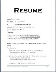 Resume Format For 2015 Resume Formats Examples Spacesheep Co