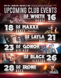 Upcoming Events Flyer Upcoming Club Events Free Psd Flyer Template Download Psd