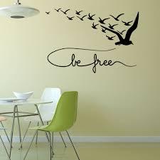 Großhandel Neu Be Free Seabirds Diy Tiere Wandtattoos Zitat Wand Dekorative Aufkleber Für Wohnzimmer Schlafzimmer Billig Und Kostenloser Versand