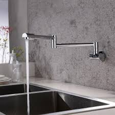 2018 solid brass kitchen wall mount pot filler faucet swivel folding retractable rotary stretch vegetables basin sink faucet 13 011 from jasm