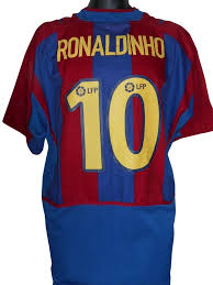 Barcelona 2002-03 HOME shirt XL Mens RONALDINHO 10 #S446. - Classic  Clothing Crib