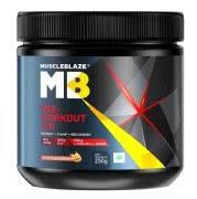 muscleblaze pre workout 300 0 55 lb fruit punch
