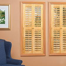 interior window shutters.  Window Plantation Light Teak Real Wood Interior Shutters Price Varies By Size On Window