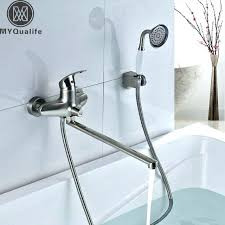 bathtub faucet with hand shower wall mount bathtub faucet with hand shower chrome finish color changing bathtub faucet