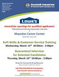 lowe s in odan hiring event mar to mar  lowe s in odan hiring event
