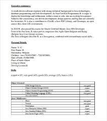 Sample Computer Programmer Resume Free 10 Printable Sample Programmer Resume Templates In Ms