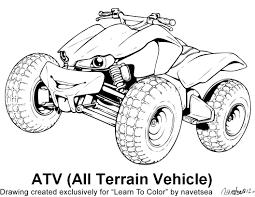 Quad Vtt 14 Transport Coloriages Imprimer