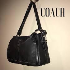 Coach Black smooth leather Shoulder Bag, Medium