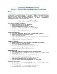 Sample Resume Warehouse Supervisor Bongdaao Com