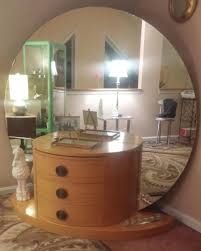 decoration graceful antique dressing table with round mirror 1 deco w v 1453228216 with