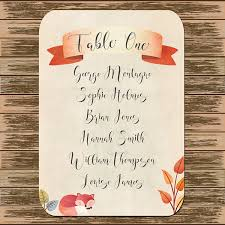 Moa Seating Chart Customised Seating Plan Card For Wedding Table Chart Cute