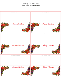 christmas placecard templates 28 images of holiday place card template leseriail com