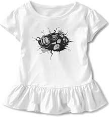 Toddler Girl's Ruffle T-Shirt Gorilla King Kong ... - Amazon.com