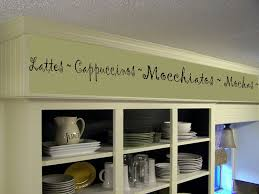 Cafe Decorations For Kitchen Coffee Kitchen Words Border Vinyl Wall Decor Cafe By Landbgraphics
